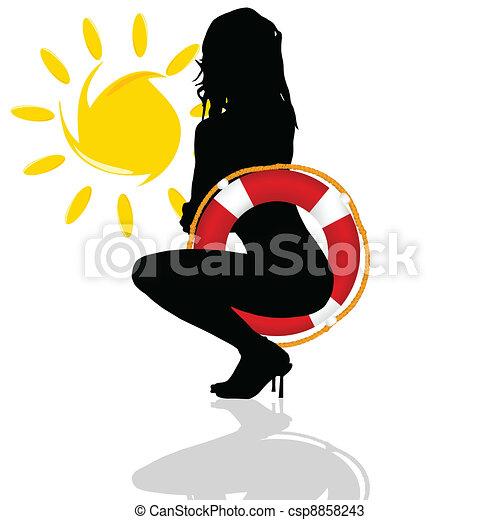 sexy girl posing - csp8858243