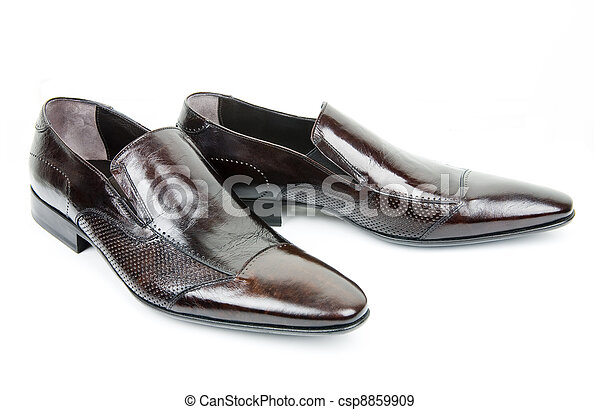 Pair of brown man?s shoes - csp8859909