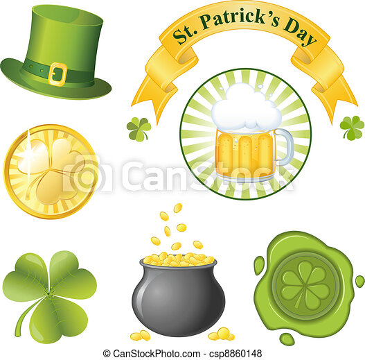 St. Patrick's Day icon set - csp8860148