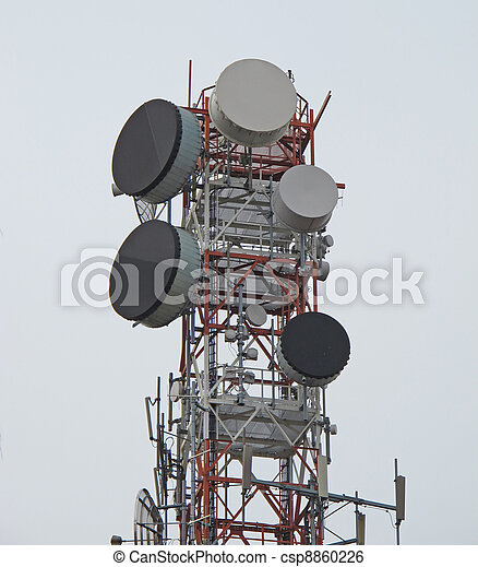 trellis with antenna for the repetition of television and mobile  signals  - csp8860226