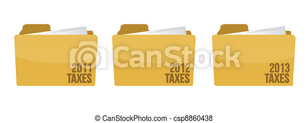 folder with tax documents - csp8860438