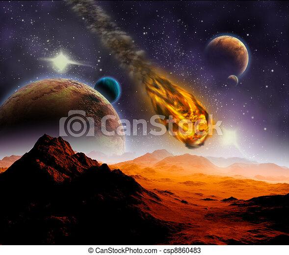 Disegni di attacco asteroide pianeta universo estratto for Immagini universo gratis