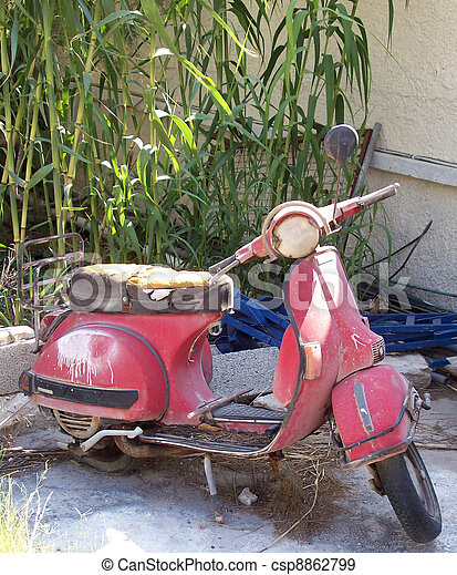 wrecked moped - csp8862799
