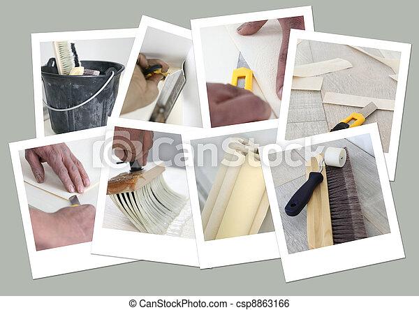 Snapshots of decorating - csp8863166