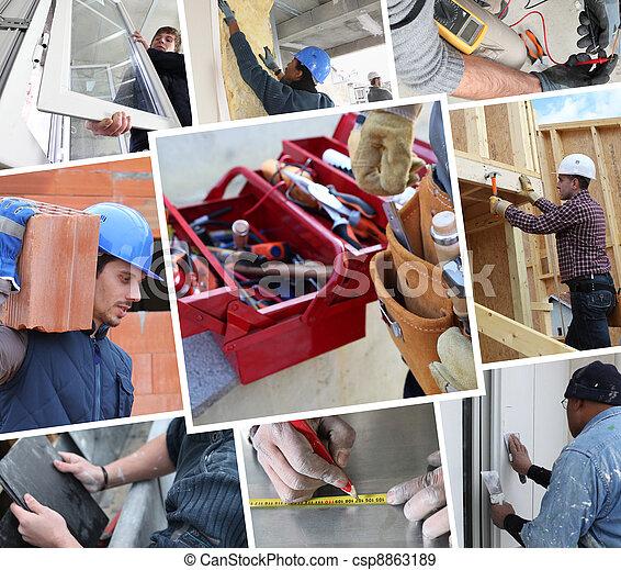 trabalhadores, construção - csp8863189