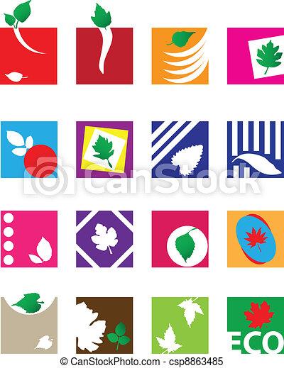 Ecological symbols - csp8863485
