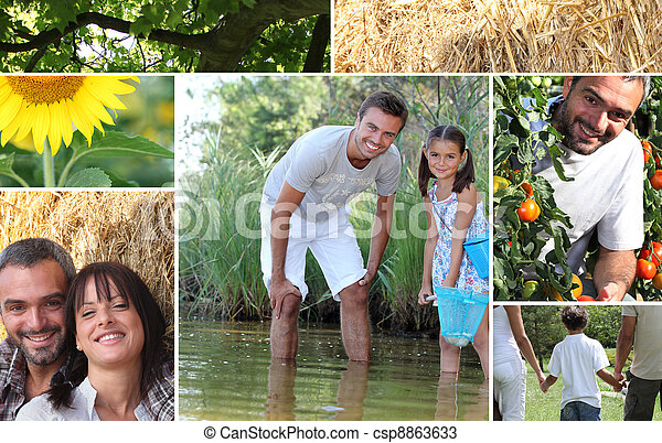 Collage illustrating the great outdoors - csp8863633