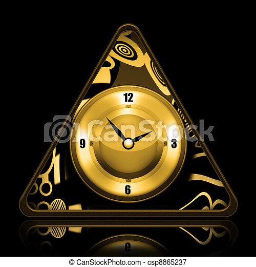comment dessiner une horloge triangulaire