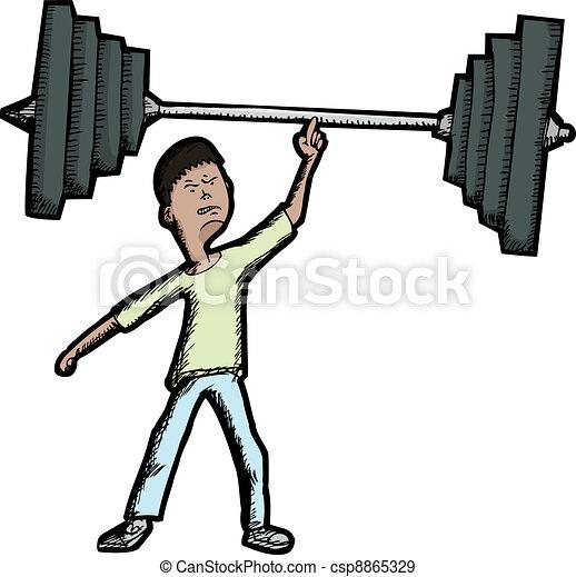 Skinny Weightlifter - csp8865329