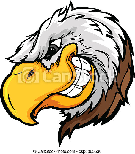 Eagle Mascot Head with Sly Expressi - csp8865536