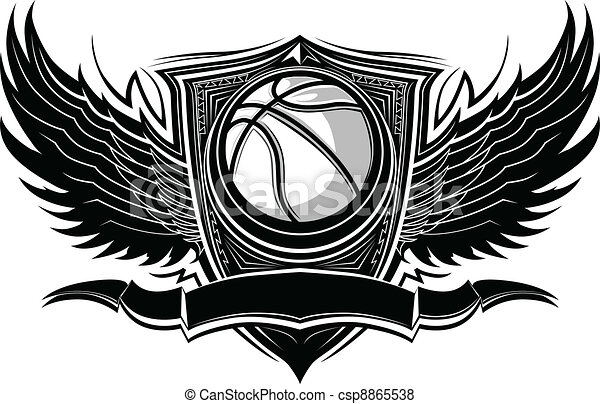 Basketball Ball Ornate Graphic Vect - csp8865538