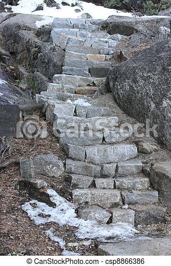 Stairs at Yosemite National Park - csp8866386