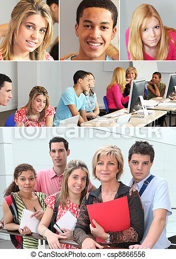Young adults in professional training - csp8866556