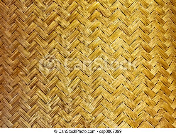 Texture of fabricated bamboo bark  - csp8867099