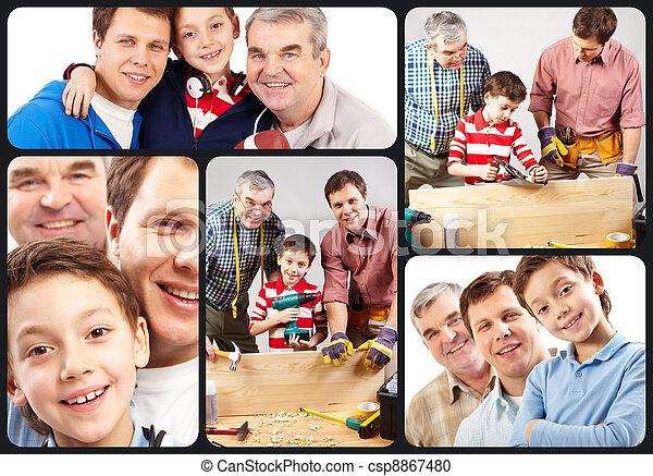 Cheerful family - csp8867480
