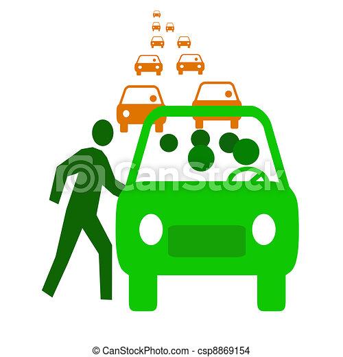 carpool economy - csp8869154