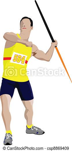 Poster Athletics. The running peopl - csp8869409