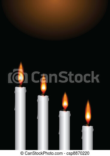Vector Clipart of Christmas advent candles - Illustration of the ...