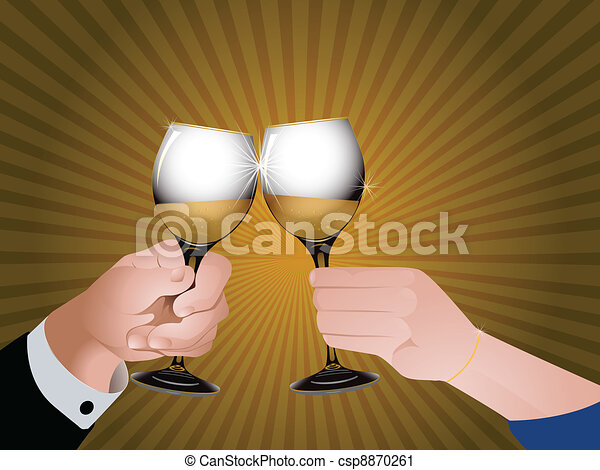 Cheers with champagne - csp8870261