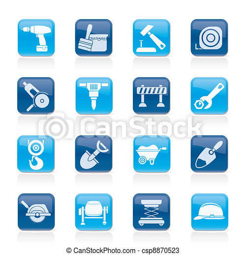 building and construction icons - csp8870523