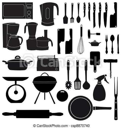 Vector Clipart Van Vector Het Koken Gereedschap Illustratie Keuken Csp8870740 Zoek