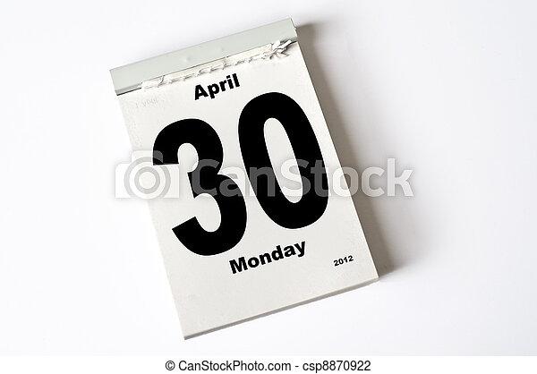 30. April 2012 - csp8870922