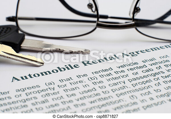 AUtomobile rental agreement - csp8871827