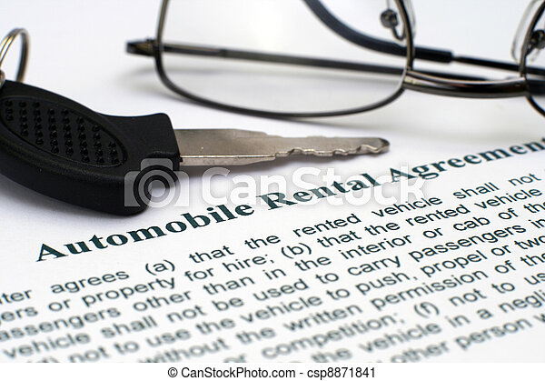 AUtomobile rental agreement - csp8871841
