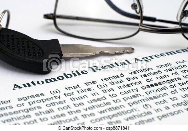 AUtomobile rental agreement - csp8871841