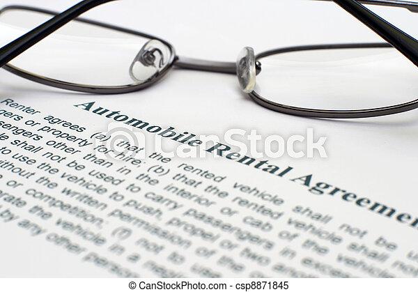 AUtomobile rental agreement - csp8871845
