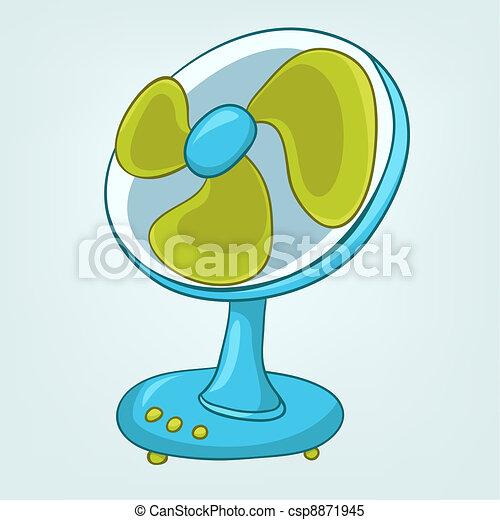 Cartoons Home Appliences Fan - csp8871945