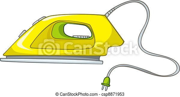 Cartoons Home Appliences Flat Iron - csp8871953