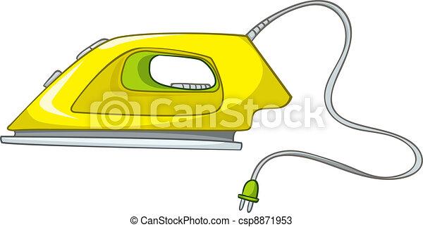 Cartoons Home Appliences Flat Iron - csp8871953