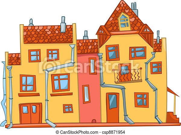 vecteur eps de maison dessin anim cartoon illustration house csp8871954 recherchez. Black Bedroom Furniture Sets. Home Design Ideas