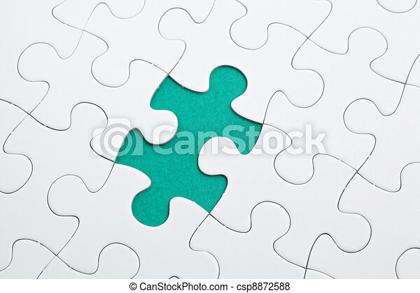 puzzle with green piece missed - csp8872588
