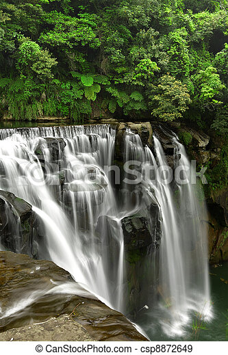 waterfalls in shifen taiwan - csp8872649