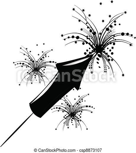 vectors illustration of firecracker silhouette exploding firecracker clipart Exploding Firecracker Clip Art