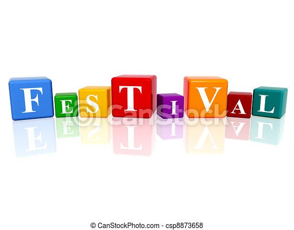 festival in 3d cubes - csp8873658