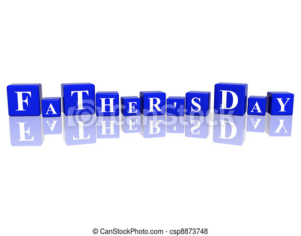 father's day in 3d cubes - csp8873748
