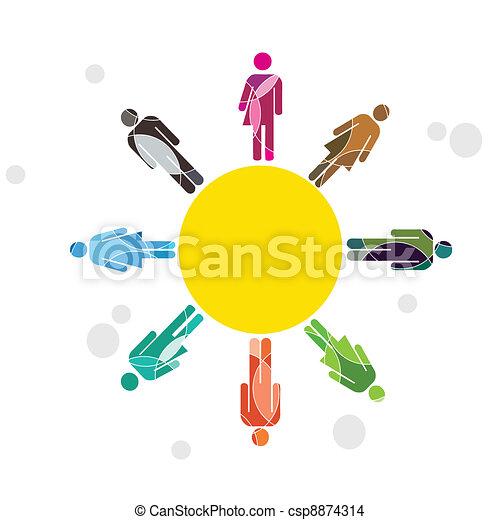 Human diversity concept - csp8874314
