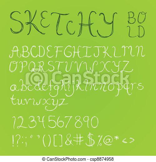 Bold Sketchy Font - csp8874958