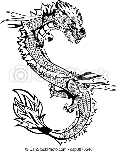 Asian dragon - csp8876548