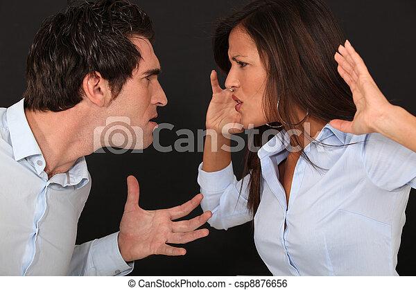 violent couple dispute - csp8876656