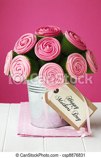 Mother's day cupcake bouquet - csp8876831