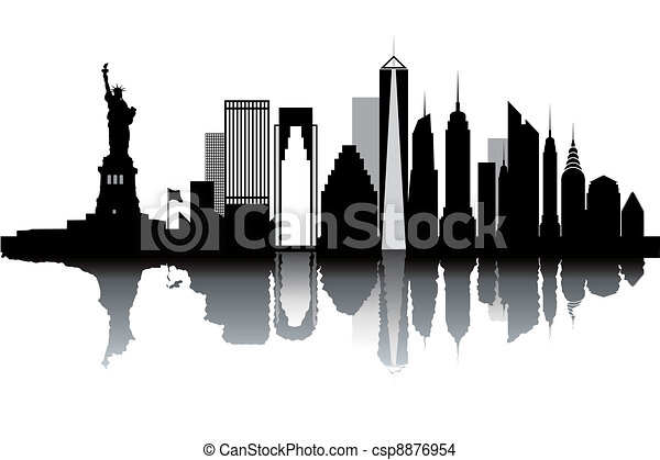 New York skyline - csp8876954