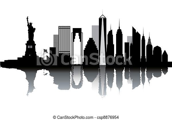 New York skyline - csp8876954