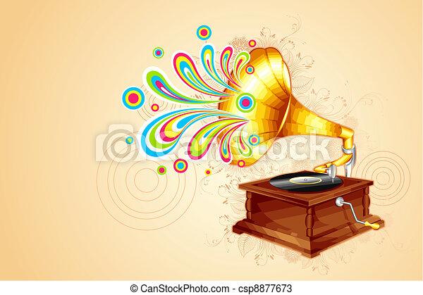 Antique Gramophone - csp8877673