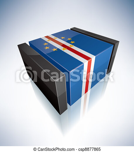 3D flag of Cape Verde - csp8877865