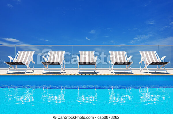 Luxury swimming pool  - csp8878262
