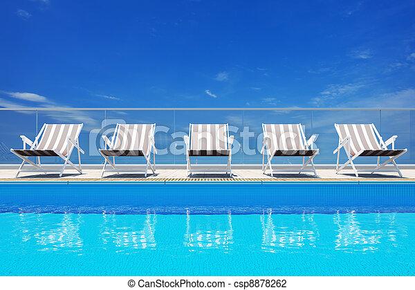 Luxury swimming pool  - csp8878262